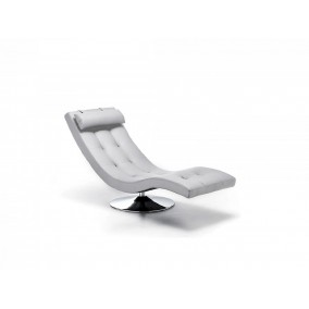 Sleeper Poltrona chaise loungue in ecopelle girevole